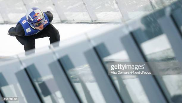 Adam Malysz of Poland competes during the trial round of the FIS Ski Jumping World Cup on February 3 2010 in Klingenthal Germany