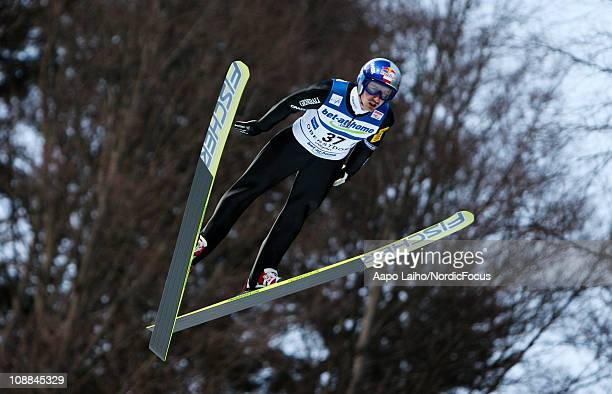 Adam Malysz of Poland competes in the individual HS213 during the FIS Ski Jumping Team Tour 2011 on February 5 2011 in Oberstdorf Germany