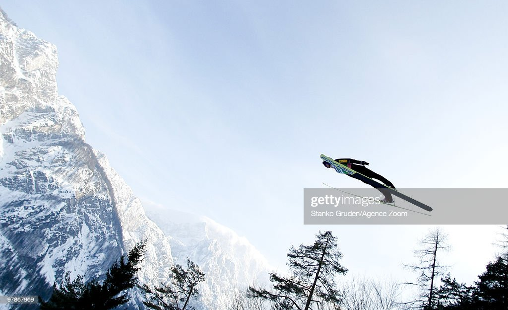 Adam Malysz of Poland jumps during the FIS Ski Flying World Championships, Day 1 HS215 on March 19, 2010 in Planica, Slovenia.