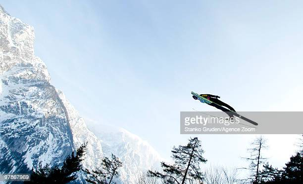 Adam Malysz of Poland jumps during the FIS Ski Flying World Championships Day 1 HS215 on March 19 2010 in Planica Slovenia