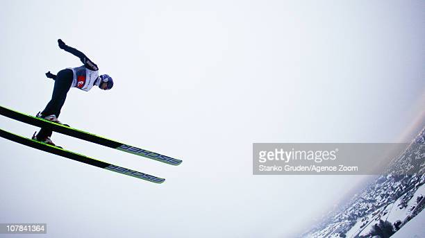 Adam Malysz of Poland takes 3rd place during the FIS Ski Jumping World Cup Vierschanzentournee on January 1 2011 in GarmischPartenkirchen Germany