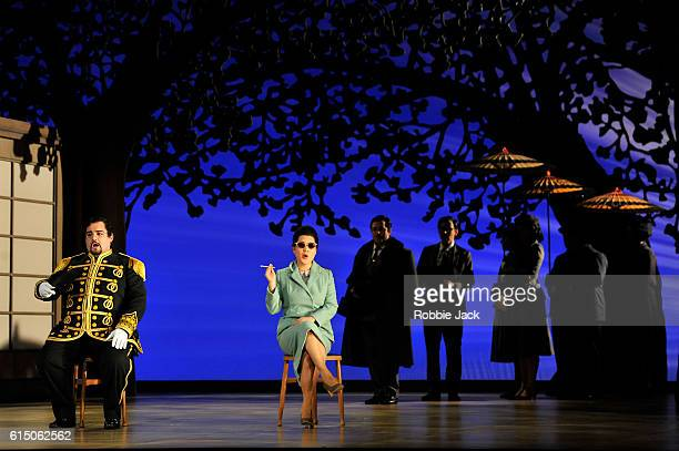 Adam Marsden as Prince Yamadori and Karah Son as CioCioSan with artists of the company in Giacomo Puccini's Madame Butterfly directed by Annilese...