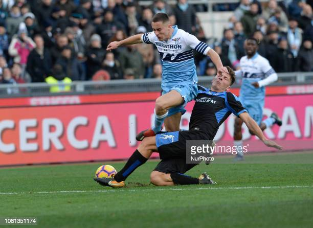 Adam Marusic during the Italian Cup football match between SS Lazio and Novara at the Olympic Stadium in Rome on January 12 2019
