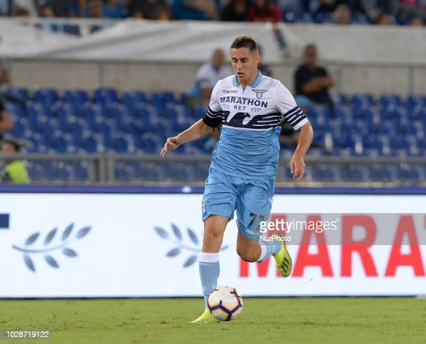 Adam Marusic during the Italian Serie A football match between SS Lazio and Frosinone at the Olympic Stadium in Rome on september 02 2018