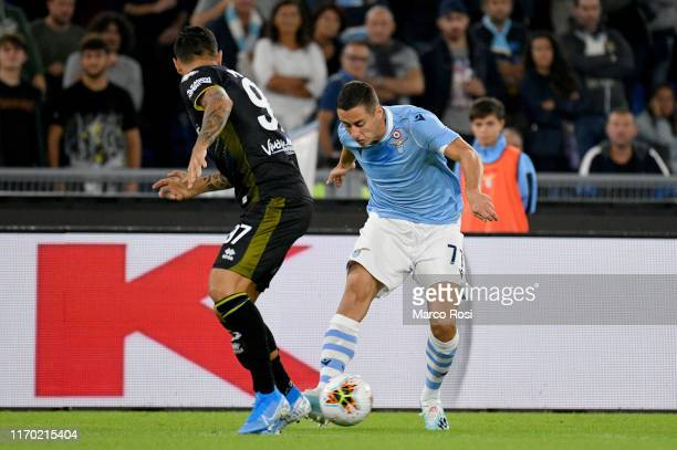 Adam Marusic of SS Lazio in action during the Serie A match between SS Lazio and Parma Calcio at Stadio Olimpico on September 22 2019 in Rome Italy