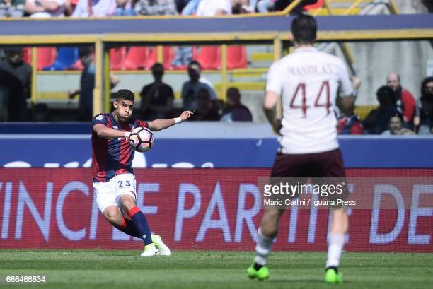 Adam Masina @ 25 of Bologna FC in actionduring the Serie A match between Bologna FC and AS Roma at Stadio Renato Dall'Ara on April 9 2017 in Bologna...