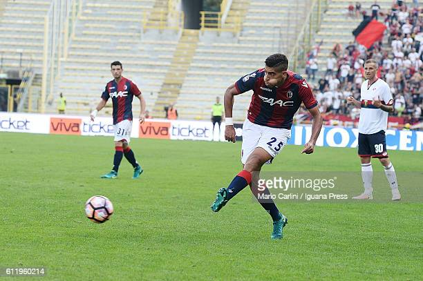 Adam Masina of Bologna FC in action during the Serie A match between Bologna FC and Genoa CFC at Stadio Renato Dall'Ara on October 2 2016 in Bologna...