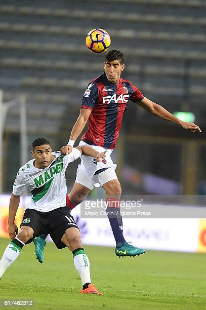 Adam Masina of Bologna FC in action during the Serie A match between Bologna FC and US Sassuolo at Stadio Renato Dall'Ara on October 23 2016 in...