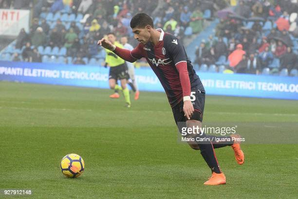 Adam Masina of Bologna FC in action during the serie A match between Spal and Bologna FC at Stadio Paolo Mazza on March 3 2018 in Ferrara Italy