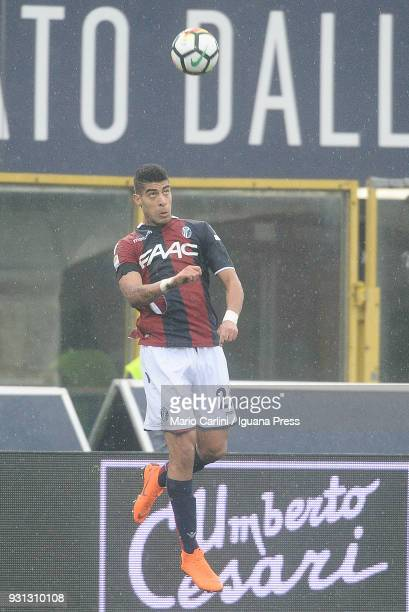 Adam Masina of Bologna FC in action during the serie A match between Bologna FC and Atalanta BC at Stadio Renato Dall'Ara on March 11 2018 in Bologna...