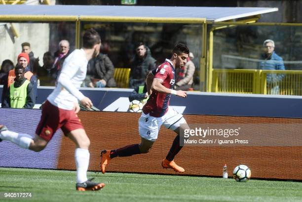Adam Masina of Bologna FC in action during the serie A match between Bologna FC and AS Roma at Stadio Renato Dall'Ara on March 31 2018 in Bologna...