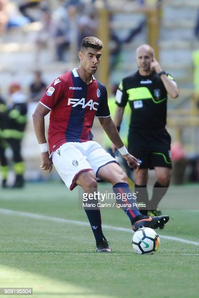 Adam Masina of Bologna FC in action during the serie A match between Bologna FC and AC Chievo Verona at Stadio Renato Dall'Ara on May 13 2018 in...