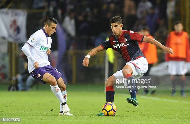 Adam Masina of Bologna FC in action during the Serie A match betweenBologna FC and ACF Fiorentina at Stadio Renato Dall'Ara on October 29 2016 in...