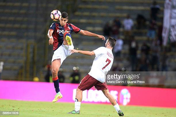 Adam Masina of Bologna FC in action during the Tim Cup match between Bologna FC andTrapani Calcio at Stadio Renato Dall'Ara on August 12 2016 in...