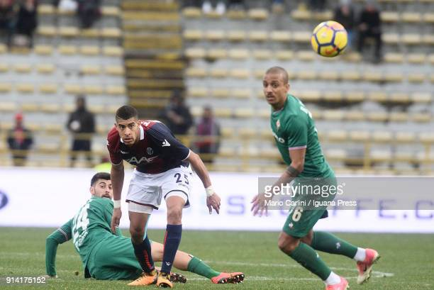 Adam Masina of Bologna FC looks on during the serie A match between Bologna FC and ACF Fiorentina at Stadio Renato Dall'Ara on February 4 2018 in...