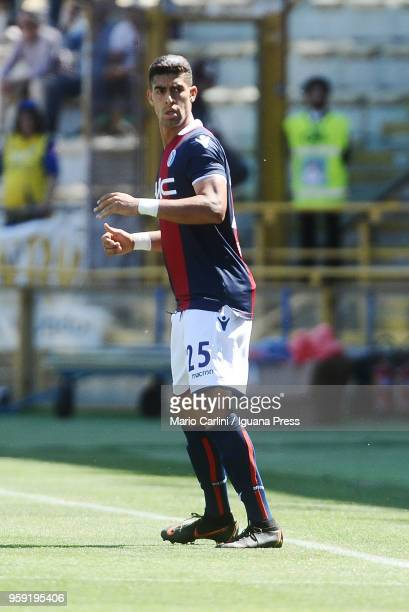 Adam Masina of Bologna FC looks on during the serie A match between Bologna FC and AC Chievo Verona at Stadio Renato Dall'Ara on May 13 2018 in...
