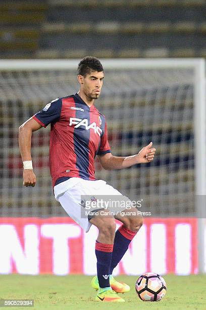 Adam Masina of Bologna in action during the Tim Cup match between Bologna FC andTrapani Calcio at Stadio Renato Dall'Ara on August 12 2016 in Bologna...