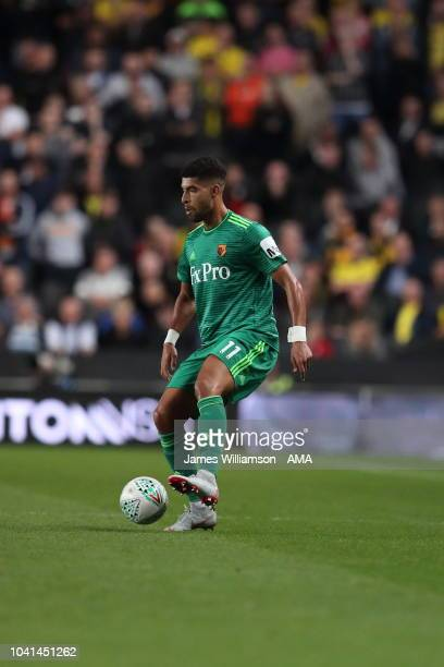Adam Masina of Watford during the Carabao Cup Third Round match between Tottenham Hotspur and Watford at Stadium mk on September 26 2018 in Milton...