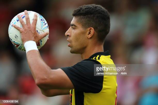 Adam Masina of Watford during the PreSeason Friendly between Stevenage v Watford at The Lamex Stadium on July 27 2018 in Stevenage England
