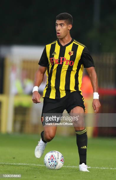 Adam Masina of Watford during the preseason friendly match between Stevenage and Watford at The Lamex Stadium on July 27 2018 in Stevenage England