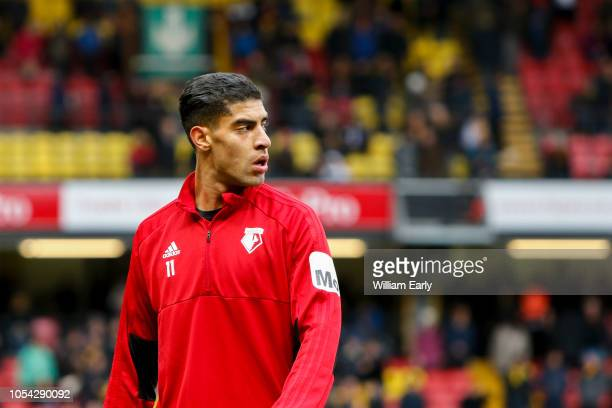 Adam Masina of Watford FC during the Premier League match between Watford FC and Huddersfield Town at Vicarage Road on October 27 2018 in Watford...