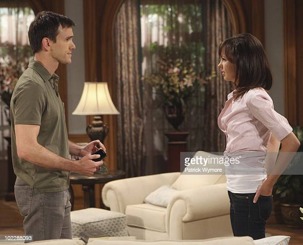 CHILDREN Adam Mayfield and Brittany Allen in a scene that begins airing the week of June 28 2010 on Walt Disney Television via Getty Images Daytime's...