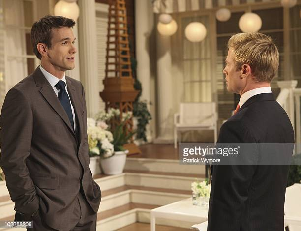 CHILDREN Adam Mayfield and Jacob Young in a scene that airs the week of June 28 2010 on Walt Disney Television via Getty Images Daytime's All My...