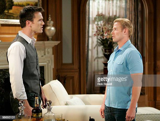 """Adam Mayfield and Jacob Young in a scene that airs the week of May 3, 2010 on Walt Disney Television via Getty Images Daytime's """"All My Children.""""..."""