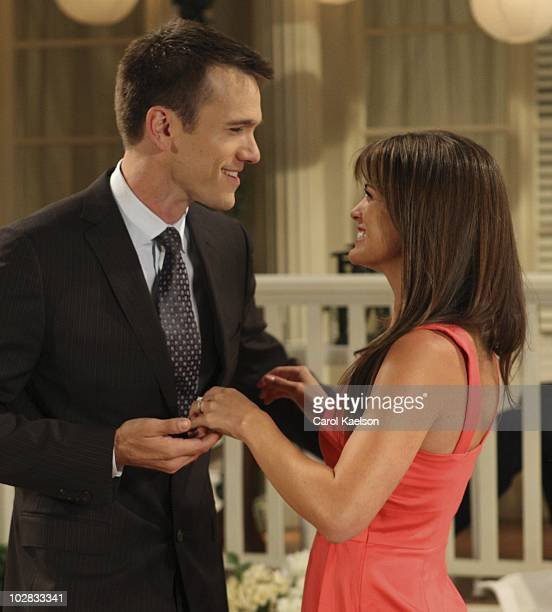 CHILDREN Adam Mayfield and Melissa Claire Egan in a scene that airs the week of July 19 2010 on Walt Disney Television via Getty Images Daytime's All...