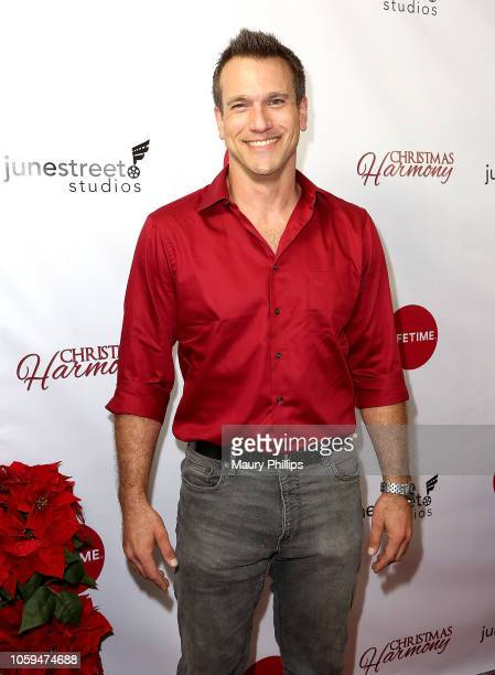 Adam Mayfield arrives at Lifetime's Christmas Harmony Premiere at Harmony Gold Theater on November 7 2018 in Los Angeles California