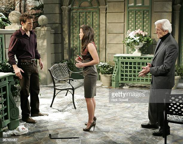 Adam Mayfield , Melissa Claire Egan and David Canary in a scene that airs the week of February 22, 2010 on Walt Disney Television via Getty Images...