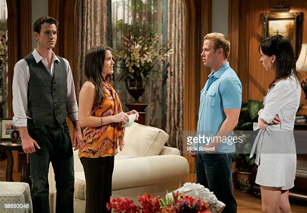 Adam Mayfield , Melissa Claire Egan , Jacob Young and Brittany Allen in a scene that airs the week of May 3, 2010 on Walt Disney Television via Getty...