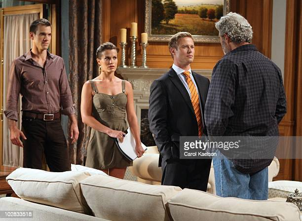 CHILDREN Adam Mayfield Melissa Claire Egan Jacob Young and Michael Nouri in a scene that airs the week of July 19 2010 on Walt Disney Television via...