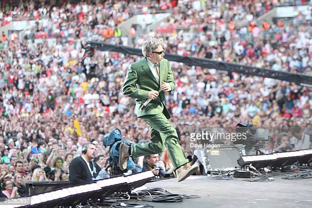 Adam 'MCA' Yauch of the Beastie Boys performs on stage during the Live Earth concert at Wembley Stadium on July 7 2007 in London England Live Earth...