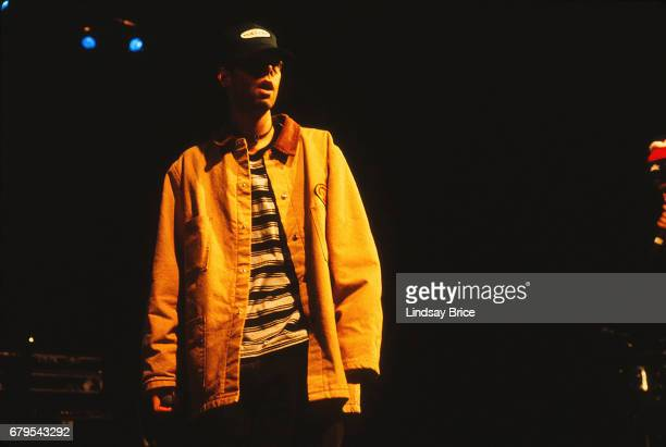 Adam 'MCA' Yauch performs with Beastie Boys at Universal Amphitheatre on November 24 1992 in Los Angeles California