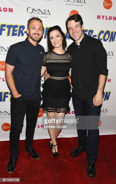 Adam McArthur Amanda Troop and Brandon Jones attend NYLON And NVE | The Experience Agency Present AfterCon At OMNIA San Diego at Omnia Nightclub on...