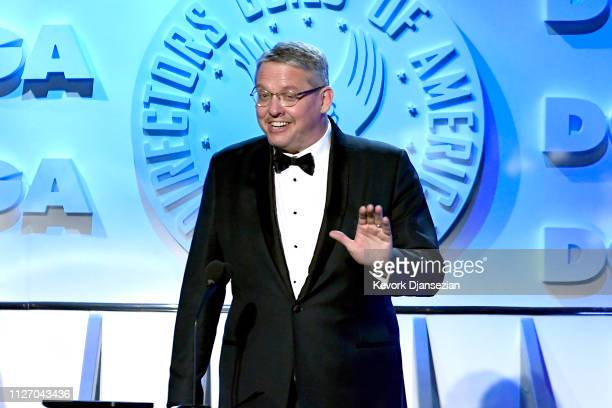 Adam McKay accepts the Feature Film Nomination Award for 'Vice' onstage during the 71st Annual Directors Guild Of America Awards at The Ray Dolby...