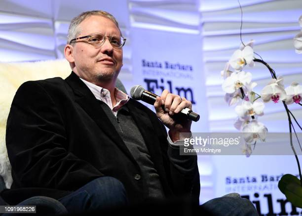 Adam McKay speaks onstage during the Outstanding Directors Award during the 34th Santa Barbara International Film Festival at Arlington Theatre on...