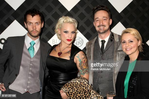 Adam McLay Calli Carvajal and Angelique Max attend OUT 100 Presented by BUICK at IAC Building on November 18 2010 in New York City
