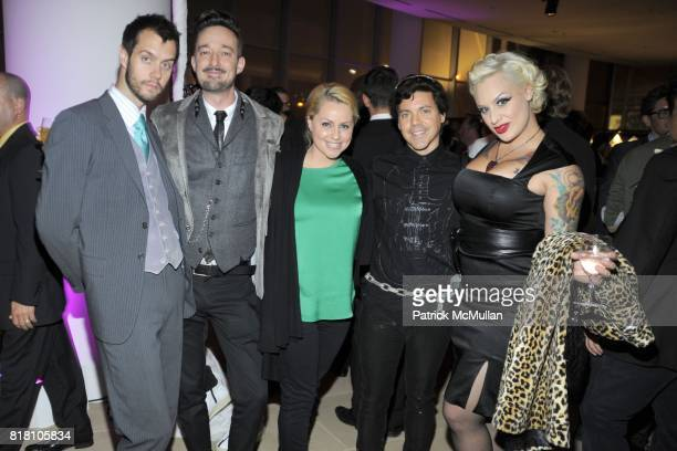 Adam McLay Stuart Jackson Angelique Max Eric Andrew and Calli Carvajal attend OUT 100 Presented by BUICK at IAC Building on November 18 2010 in New...