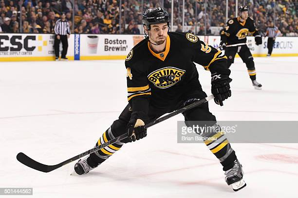 Adam McQuaid of the Boston Bruins skates against the Florida Panthers at the TD Garden on December 12 2015 in Boston Massachusetts