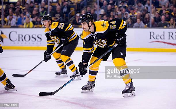 Adam McQuaid of the Boston Bruins skates against the St Louis Blues during the second period at TD Garden on November 22 2016 in Boston Massachusetts...
