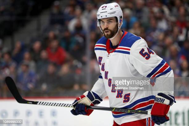 Adam McQuaid of the New York Rangers plays the Colorado Avalanche at the Pepsi Center on January 04 2019 in Denver Colorado