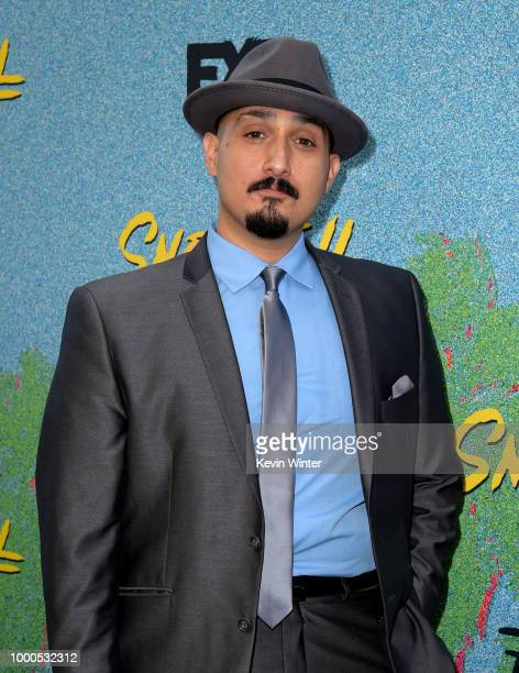 Adam Mendoza arrives at the premiere of FX's 'Snowfall' Season 2 at the Regal Cinemas LA LIVE Stadium 14 on July 16 2018 in Los Angeles California