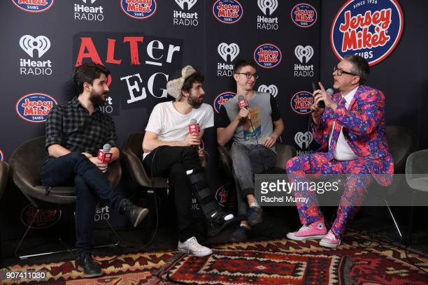 Adam Met Jack Met and Ryan Met of AJR attend iHeartRadio ALTer Ego 2018 at The Forum on January 19 2018 in Inglewood United States