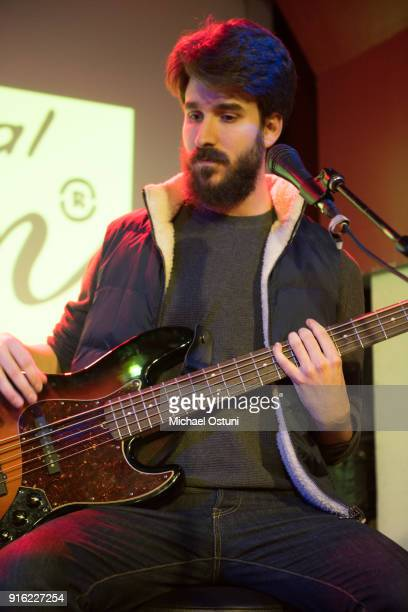 Adam Met of AJR performs at Original Penguin Celebrates New York Fashion Week at Pianos on February 6 2018 in New York City