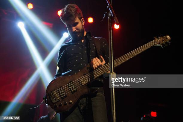 Adam Met of AJR performs at The Belasco Theater on March 20 2018 in Los Angeles California