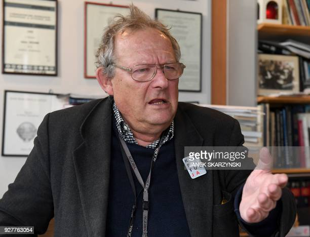 Adam Michnik a prominent communistera dissident who is now editorinchief of Gazeta Wyborcza Poland's leading liberal newspaper is pictured at his...