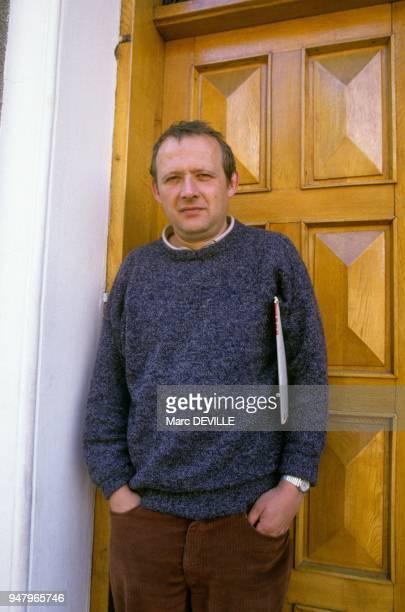 Adam Michnik conseiller de Solidarnosc le 10 mai 1988 a Gdansk Pologne