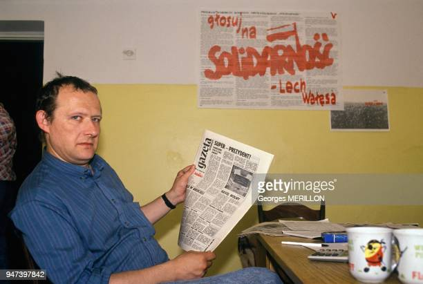 Adam Michnik During Electoral Campaign In Warsaw May 1989